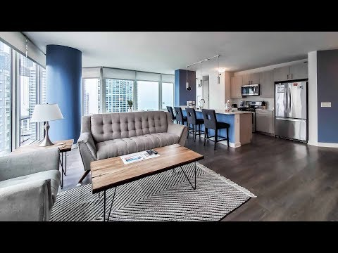 A furnished 3-bedroom, 3-bath at the Loop's Marquee at Block 37