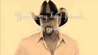Tim McGraw   My Bestfriend (Lyrics)