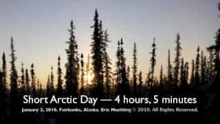 Winter Solstice in the Arctic. Fairbanks, Alaska Time-lapse video.