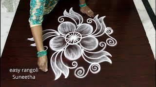 Freehand Kolam Designs By Easy Rangoli Suneetha    New Muggulu