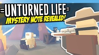 MYSTERY NOTE REVEALED - Unturned Life Roleplay #188