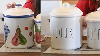 Raye Dunn Inspired Kitchen Canister Makeover