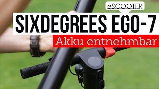 eScooter Six Degrees Velo E7 abnehmbarer Akku nur 12kg leicht