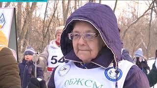 В Уральске ветераны спорта встали на лыжи