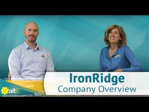 IronRidge Company Overview at altE Store