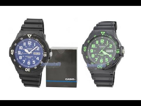 Видео обзор наручных часов CASIO MRW-200-H 3B и MRW-200-H-2B2