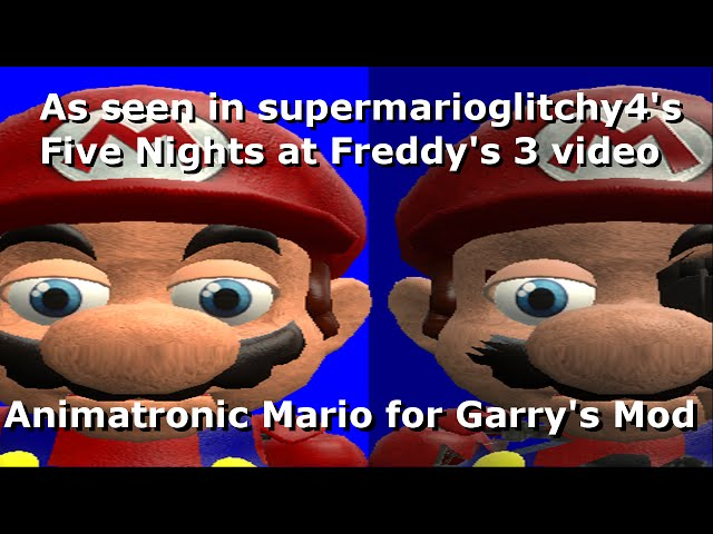 Animatronic Mario 2 Gmod mario in animatronic horror night 2 trouble