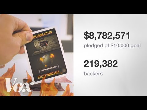 Crowdfunding, explained by Exploding Kittens