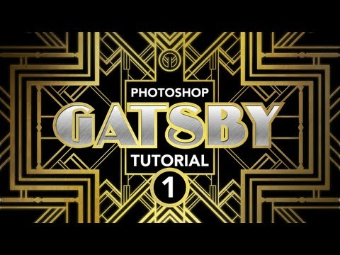 """Photoshop Tutorial: """"Gatsby"""" Art-Deco Poster Effect (Part 1 of 3)"""
