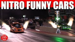 2017 Northern Nationals Nitro Funny Cars Drag Racing In Car Video 1/4 Mile Video
