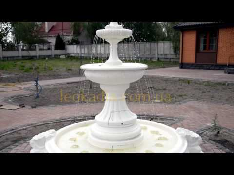 """Видео к Фонтан """"Леокадия"""" малый арт. 354а с бассейном арт.031 в белом цвете №2"""