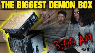 (WE NEED HELP!) THE WORLDS BIGGEST DEMON BOX OPENING AT 3 AM!!
