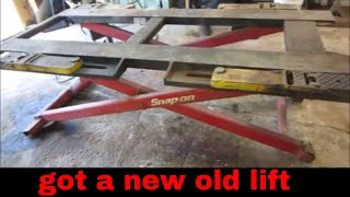 Garage Car Lift And Free Pellet Stove Found On Craigslist,