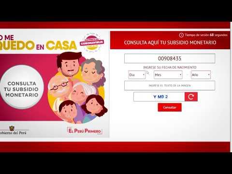Subsidio monetario #YoMeQuedoEnCasa