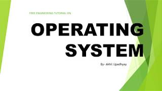 FREE ENGINEERING TUTORIAL ON OPERATING SYSTEM #operatingsystem #vtu  #freetutorial #exam #courseware