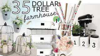 35 Farmhouse Dollar Tree DIYs | Pretty Farmhouse DIYS | EASY Dollar Tree DIYs