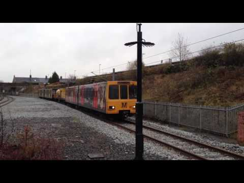 Tyne & Wear Railhead Treatment Train passes Northumberland P…