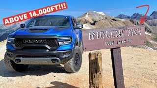 Driving My RAM TRX On The HIGHEST ROAD IN THE U.S!!! *IMOGENE PASS*