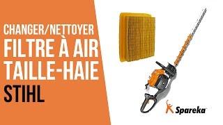 Comment changer le filtre à air de son taille-haie thermique Stihl ?