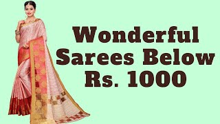 Pretty Sarees For Women Below 1000 Rupees