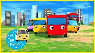 The Bus Song! | Different Types of Buses | Little Baby Bus | Nursery Rhymes | Songs for Kids
