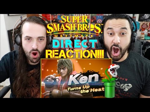 SUPER SMASH BROS. ULTIMATE (Direct 11.1.2018) - REACTION!!! (видео)