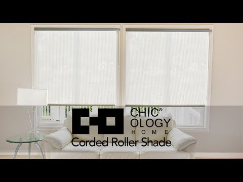 Video for Midnight Black 30 x 72 In. Continuous Loop Beaded Chain Roller Shades