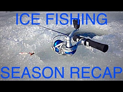Pond Ice fishing bass and bluegill season recap