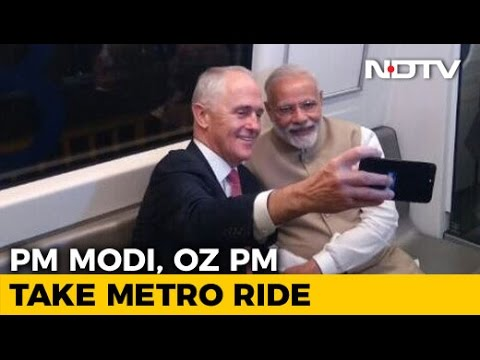 Metro Ride For PM Modi, Australian Premier
