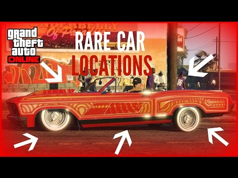 "GTA 5 ONLINE ALL VERY RARE CAR LOCATIONS!! (RARE AND SECRET VEHICLES) ""GTA V"""