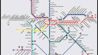 Mapa do Transporte Metropolitano de Sao Paulo SP Metropolitan Transport Network