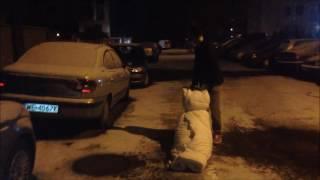 Пранк: тащим трупа ночью по улице