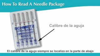 Cómo leer los empaques de las agujas