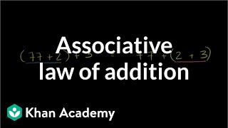 Associative Law of Addition