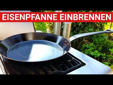 ♨️ GRILLBLITZ: Eisenpfanne einbrennen - perfekt! Erster Gebrauch Gusspfanne, geschmiedete Pfanne