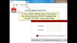 How to Change the MAC Address of Huawei BM622 WiMAX Modem