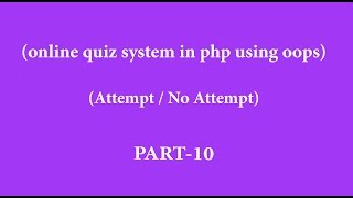 online quiz system in php hindi  part-10(attempt noattempt questions)