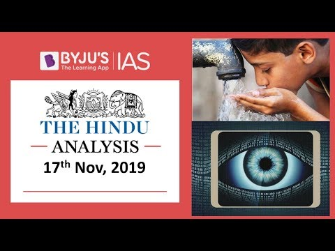 'The Hindu' Analysis for 17th November, 2019 (Current Affairs for UPSC/IAS)