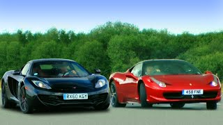 McLaren MP4-12c vs Ferrari 458 Italia - Fifth Gear