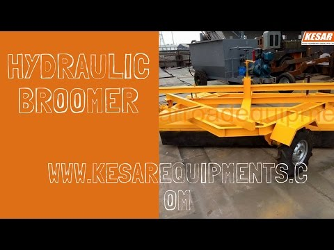 Hydraulic Broomer Machine