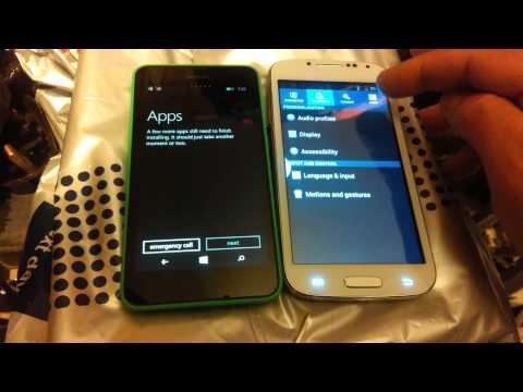 Nokia Lumia 630 vs Android setup
