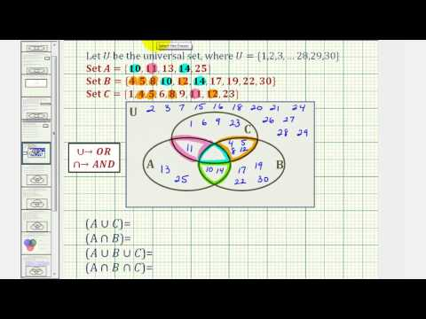 how to find the intersection in a venn diagram schneider electric dol starter wiring ex intersections and unions of three sets using long math help from arithmetic through calculus beyond