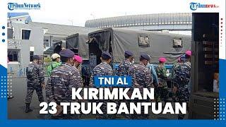 TNI AL Distribusikan Sembako hingga Pakaian untuk Korban Banjir di Bekasi dan Karawang