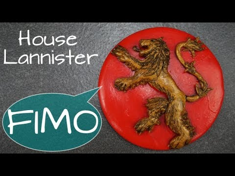 Lannister Wappen ~ Fimo / Polymerclay / Tutorial