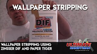 wallpaper stripping using Zinsser DIF and paper tiger