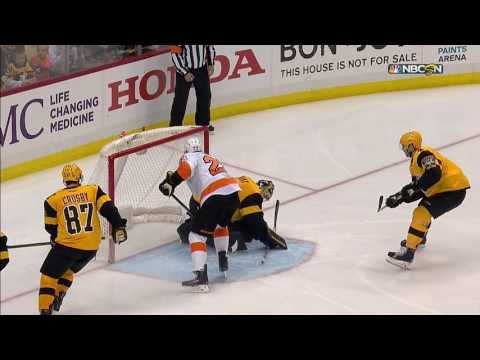 Konecny settles bouncing puck to set up quick Weise goal