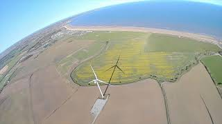 Down by the sea, Bridlington area fpv flights with 3-4 inch drones.