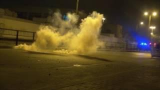 صدامات أمنية في البلاد القديم بالتزامن مع سباقات الفورملا 1 - البحرين 14/4/2017 Bahrain
