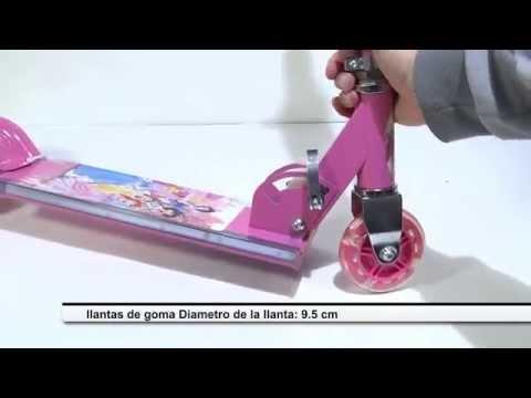 Patineta Monopatin Scooter Para Niñas Juguete De Princesas Musical Luces 3 Ruedas Ensamble Armado