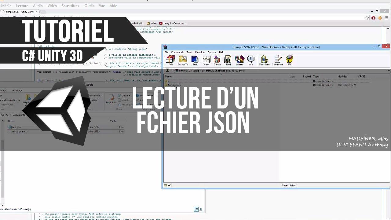 [C#][TUTO FR] Unity - Lecture d'un fichier JSON